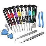 Oyedens 16 in 1 Handy Reparaturwerkzeuge Schraubendreher Set für ipad4, iphone 6, iphone plus 5