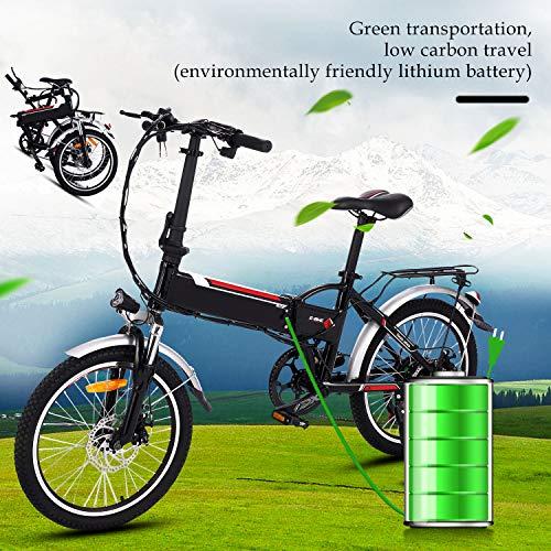 "Bunao E-Bike, E-Faltrad, 250W, 36V 8Ah Akku, 20\"" Zoll, 3-Gang Elektrofahrrad/Faltrad Fahrrad/Stadtrad/Citybike/Unisex, Herren, Damen (Weiß)"