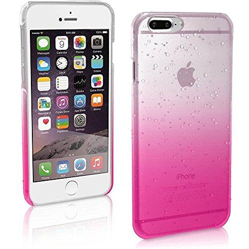 Coque iPhone 7 Plus 5.5, Sunroyal® TPU Transparent Raindrop Etui Housse Silicone Doux Ultra Mince Case Cover Shock-Absorption Bumper Protection pour Apple iPhone 7 Plus (5.5 Pouces) 2016 - Bleu Rain-Rose