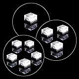Solar Glasstein Pflasterstein Bodenleuchte Dekoleuchte mit 1 LED – 7 x 7 x 5cm – robustes Milchglas – mit Akku & Dämmerungssensor – weiß einzeln 3er 5er Set wählbar (5er Set)