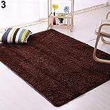 Amesii - Morbido tappeto in tessuto felpato antiscivolo, da collocare sul pavimento davanti alla porta, o nella stanza da letto, Coffee, 60cm by 160cm