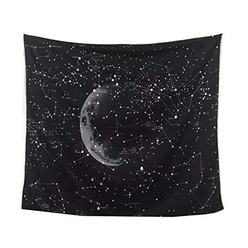 LONGXJA Sternenhimmel System ins hängen Nordic Freizeit Sofa Hintergrund Tuch Universum schwarz Sternenhimmel Tapisserie dekorativen Stoff, 2 * 1,5 Meter
