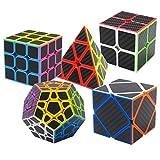 Speed Cube Ensemble Pyraminx + Megaminx + 2x2x2 + 3x3x3 + Skewb 5 Pack dans Boîte-Cadeau Coolzon® Nouveau Cubo Autocollant de Carbone...
