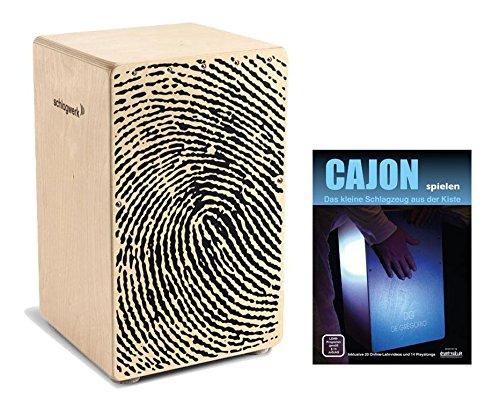 """Schlagwerk CP 107 Cajon X-One""""Fingerprint"""" SET inkl. Cajonschule (Trommelkiste, Percussion, Kistentrommel, Material: Birke, inkl. Noten)"""