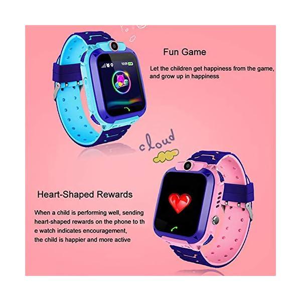 Localizador GPS Niños, Reloj GPS Niños Localizador Con SOS Anti-Lost Alarm Para Tarjeta Pantalla Táctil Smartwatch Para… 7