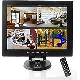 Sourcingbay Écran LCD 12pouces (30,5 cm) pour système de vidéosurveillance Entrées AV/HDMI/BNC/VGA