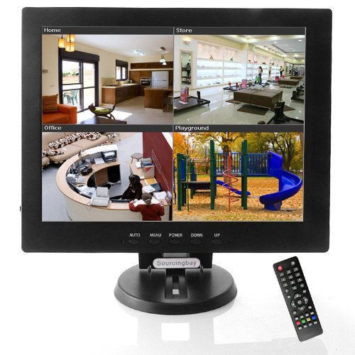 "Generic Sourcingbay - Monitor TFT LCD de 12"", negro [Importado]"