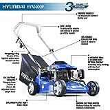 Hyundai 99 ccm rotierender Viertakt-Benzin-Rasenmäher zum Schieben, 40cm Schnittbreite HYM400P