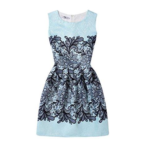 Girl's Dress,OSYARD Summer Dress Exquisite Flower Sleeveless Printed Princess Dress Children Kids Outfits Clothes