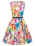 Kate Kasin Maedchen Retro 50er Kleid Partykleid 8-9 Jahre KK884-1