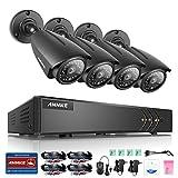 ANNKE AHD kit di videosorveglianza 8CH 1080N DVR/HVR/NVR,4*960P Videocamera di 720P,Visione notturna,Sistema di Sicurezza,l'accesso remoto,No HDD Incluso!