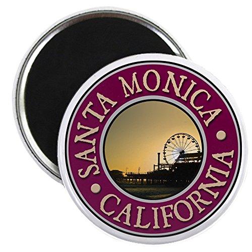 CafePress-Santa Monica-5,7cm rund Magnet, Kühlschrank Magnet, Button Magnet Stil