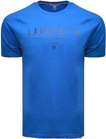 Lambretta Mens Raglan Orignal Classic Retro Mod Ska Casual T-Shirt