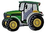 alles-meine.de GmbH Traktor 7,4 cm * 5,3 cm Bügelbild Aufnäher Applikation Grün Traktoren Auto Car