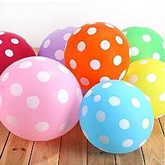 Idea Regalo - 50pcs / lot a pois Palloncini Latex Assortito 12 pollici Palloncini di Perla Spessi Per le Decorazioni Del Partito di Compleanno di Nozze