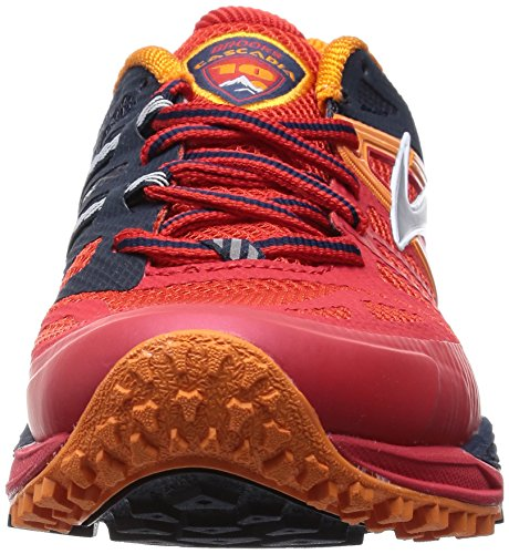Brooks Cascadia 10, Chaussures de course homme Rouge - Rot (HighRiskRed/Satsuma/BlackIris)