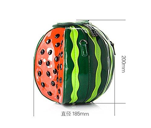 Borsa di Watermelon Borsa di cuoio del brevetto del cuoio della borsa di cuoio della borsa portatili di spalla , #1 # 2