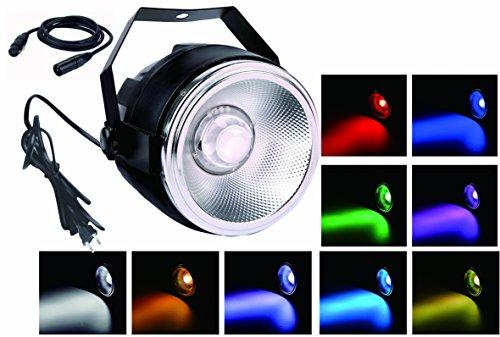 TOM LED 45W RGBW COB par lavano le luci con un riflettore di alluminio lucido e piccole cupola len e 7 dmx512 canale fase illuminazione per matrimonio / partito / teatro