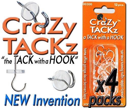 Crazy tackz 48tacks (rund & Clear) (4Stück = 48Nägel)