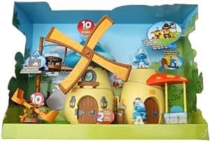 Giochi Preziosi - 2200 - Les Schtroumpfs - Figurine Accessoire - Le Moulin + 2 Figurines
