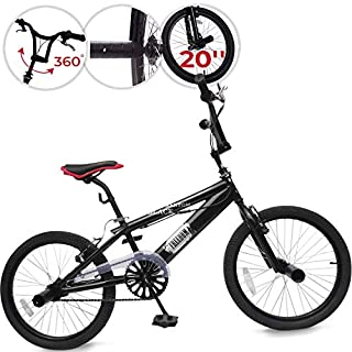 BMX 20 Zoll   360° Rotor-System, Freestyle, 4 Stahl Pegs, Kettenschutz   Fahrrad, Bike, Bicycle, Kinderfahrrad, Jugendfahrrad, Street, Park, Rad
