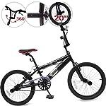 51BijZ8WEtL. SS150 Jago Bicicletta BMX - Black Phantom Nero, Ruote da 20 Pollici, Manubrio a 360°, 4 Pioli, Freno a V - Bici BMX, Bici da…