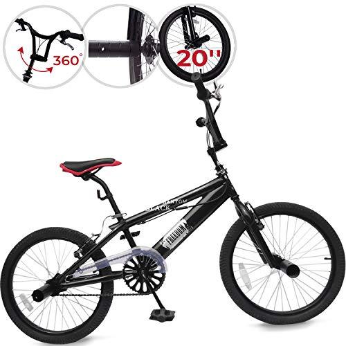 Jago BMX 20 Zoll | 360° Rotor-System, Freestyle, 4 Stahl Pegs, Kettenschutz | Fahrrad, Bike, Bicycle, Kinderfahrrad, Jugendfahrrad, Street, Park, Rad