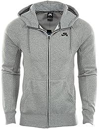 Nike SB Icon FZ Hoodie Sudadera, Hombre, Gris (Dk Grey Heather/Black), 2XL