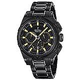 Festina CHRONO-2016-Orologio da uomo al quarzo con Display con cronografo e braccialetto in acciaio INOX, colore nero, F16969/3