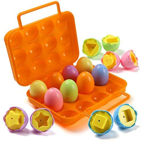 Casibecks Giocattolo Uovo Splicing Eggs Pasqua Uovo Giocattoli educativi Gioco Puzzle per Bambino Piccolo Ragazzo Ragazza