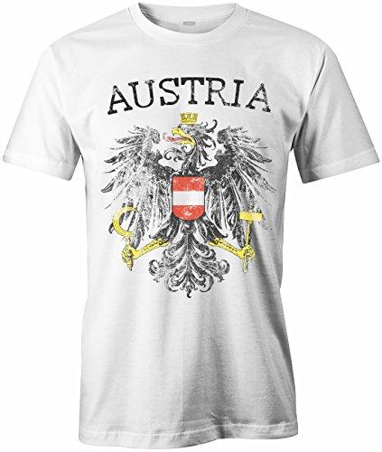 Austria Vintage Look - WM 2018 - ÖSTERREICH - Herren - T-Shirt in Weiss Gr. XXL