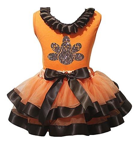 Turquie Dress Outfit - petitebelle Bling Turquie Orange pour Femme Jupe