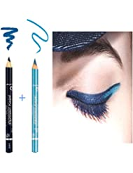Kit Gemey Maybelline New York 2 Crayons Expression Kajal Bleu Metallique et Bleu Marine ( n°42 Metallic Blue + n°36 Bleu Marine)
