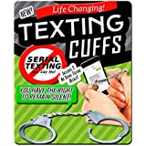 Texting Cuffs - Thumb Cuffs For Serial Texting Funny Gag Gifts For Teens And Tweens Funny Cell Phone Gifts Millennial Gifts Cuffs With Keys Handcuff Keychain By Gears Out