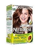 Garnier Nutrisse Creme Coloración permanente con mascarilla nutritiva de cuatro aceites - Chocolate...