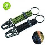 KIWI SWEET 2 Stücke Survival Überleben Paracord Schlüsselanhänger mit Karabinerhaken