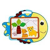 Guolipin Giocattoli educativi Tablet Baby Baby Toys Colore Graffiti Plate in Legno 1-6 Anni varietà di Stili di Cartoni Animati Bambini Cartoon Drawing Board Magnetico (Colore : D)