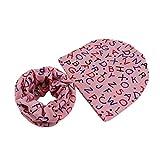2PCS Cappello del bambino + Sciarpa , feiXIANG Bambino neonato inverno cappello in cotone et sciarpa,Adatto a 3 mese~ 5 anni (Rosa)