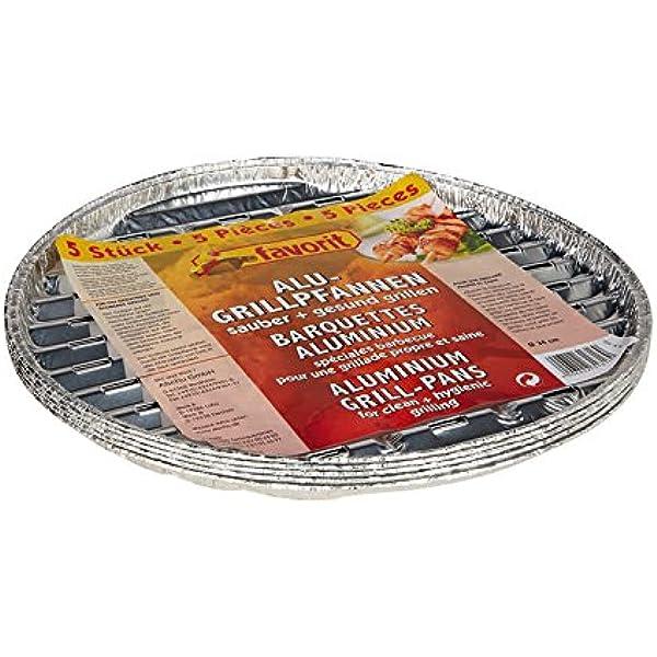 Favorit 1816 Grillpfanne Alu Rund 34 Cm Perfekt Für Jeden Rundgrill Hergestellt Aus Aluminium Geeignet Für Fisch Fleisch Und Gemüse Der Sauberen Und Gesunden Grillgenuss 5 Stück Auto