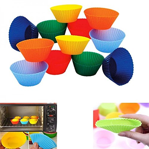 HPK Branded muffin cupcake reusable microwave safe silicone molds cups for Electrolux 20 L Grill Microwave Oven