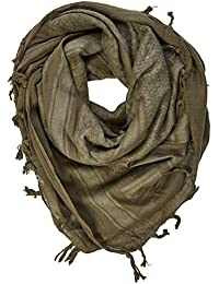 Miltec Shemagh Adulto Unisex, Verde (Olive), 110 x 110 cm