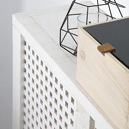 Nordic Heizkörperverkleidung 68Cm – Holz – 68x18x78 cm – Farbe Weiß Snow - 4