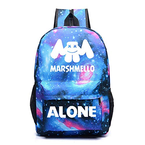 T-MIX Luminous Backpack Unisex DJ Marshmello Fans Zaino Scuola Casual Zaini Sportivi e Outdoor Borsa da Scuola (Color-4)