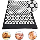 Acupressure Mat Acupuncture Mat for Back, Akupressurmatte Massagematte, Akupressurmatte & Kissen Set, Stachelig Massagebälle Tragetasche für Schmerzlinderung und Muskel Entspannung,Largelotusbuckle