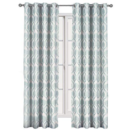Set von 2Panels-Royal Tradition-lafayette- Jacquard GROMMENT Fenster Vorhang Panels, Polyester, Mist, 108