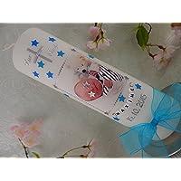 Taufkerze mit FOTO Sterne Kreuz zur Taufe Taufkerzen Junge Mädchen 250/70 mm inkl. Beschriftung
