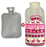 Wärmflasche  mit 2 abnehmbaren Bezügen zum Kuscheln