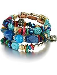 Shining Diva Fashion Jewelry Blue Stone Party Wear Stylish Daily Wear Bracelet for Women & Girls(rrsd9236b)
