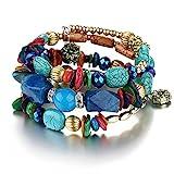Best Bracelet For Girlfriends - Shining Diva Fashion Jewelry Blue Stone Party Wear Review