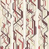 murando - PURO TAPETE - Realistische Tapete ohne Rapport und Versatz 10m Vlies Tapetenrolle Wandtapete modern design Fototapete - gelb orange rosa violett grün rot Ornament f-A-0042-j-d